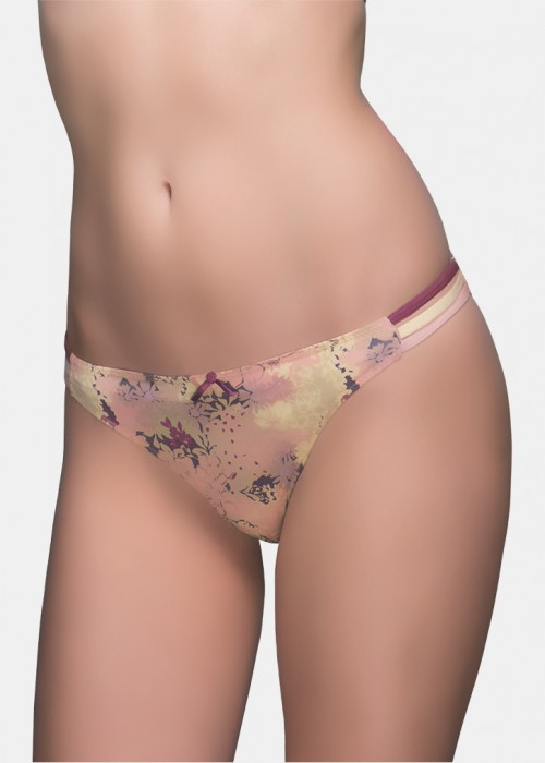 Brees-floral low waist panty-wild floral