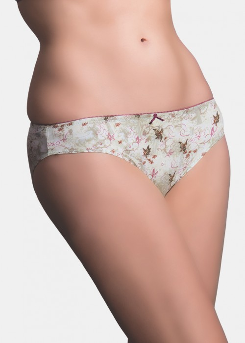 Nature-low waist panty-bikini cut-satin touch ice mint